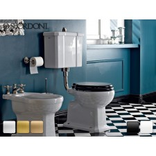 Keramik WC-Becken mit hängendem Spülkasten Neoclassica  Antik Retro Traditionell