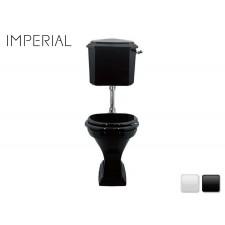 Nostalgie Keramik WC-Becken Astoria Deco mit hängendem Spülkasten