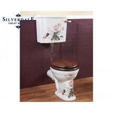 Nostalgie WC-Becken Victorian Garden mit hängendem Spülkasten