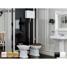Keramik WC-Becken mit hoch hängendem Spülkasten Romana Antik Retro Traditionell