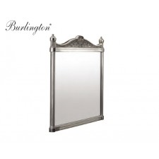 Retro Badezimmer-Spiegel Burlington Aluminium poliert
