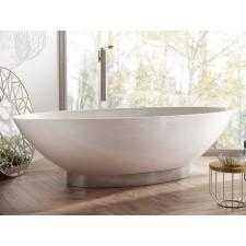Freistehende Designer Badewanne aus Mineralguss Onis