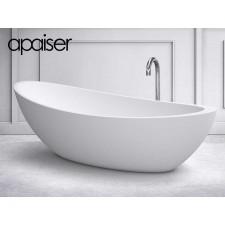 Freistehende Design Badewanne aus Mineralguss Marmor Oman
