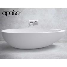 Freistehende Design Badewanne aus Mineralguss Marmor Reflection
