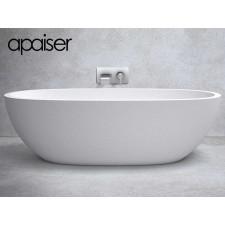 Freistehende Design Badewanne aus Mineralguss Marmor Sapphire