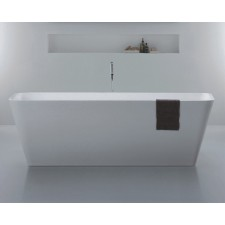 Freistehende Design Badewanne aus Mineralguss Quadrato Large
