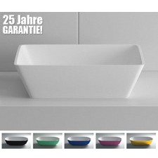 Design Mineralguss Aufsatz-Waschbecken Quadrato