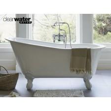 Freistehende Badewanne aus Clearstone Romano Grande