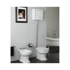 Nostalgie Keramik WC-Becken Royal mit hoch hängendem Spülkasten