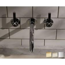 Design Waschtischarmatur Senska Black Lever zur Wandmontage