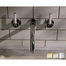 Design Waschtischarmatur Senska White Lever zur Wandmontage
