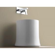 Keramik Aufsatzwaschbecken Shell Round mit hohem Rand