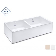 Shaws Keramik Küchenspüle Shaker Double 80