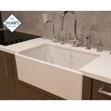 Shaws Keramik Küchenspüle Shaker Single