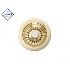 """Shaws Siebablauf 1½"""" für Küchenspüle Gold"""