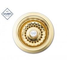 """Shaws Siebablauf 3½"""" für Küchenspüle Gold"""