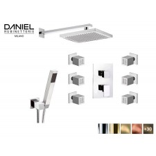 Design 3-Wege Unterputz Duscharmatur mit seiten-düsen Daniel D