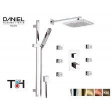 Design Thermostat 3-Wege Unterputz Duscharmatur mit Seiten-Düsen Daniel D