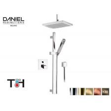 Design Thermostat 2-Wege Unterputz Duscharmatur mit Deckenanschluss Daniel D