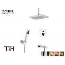 Design Thermostat 3-Wege Unterputz Duscharmatur mit Deckenanschluss Daniel D