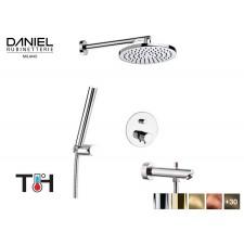 Design Thermostat 3-Wege Unterputz Duscharmatur mit Wannenfüller Daniel D