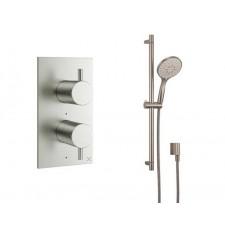 Design Unterputz Duscharmatur MPRO Steel / 1 Weg