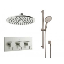 Design Unterputz Duscharmatur MPRO Steel / 2 Wege