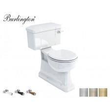 Retro Keramik WC-Becken Classic mit aufgesetztem Spülkasten Bodenablauf