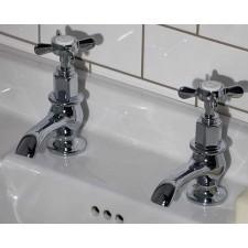 Nostalgie Zweiloch Waschtischarmatur Standen Kreuzgriff