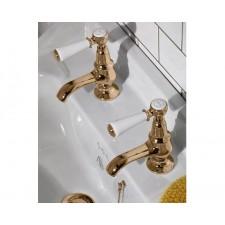 Nostalgie Zweiloch Waschtischarmatur Goddard Brass