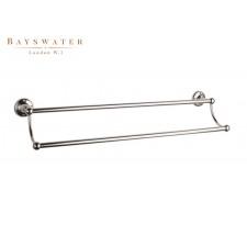 Retro Doppel-Handtuchstange Bayswater