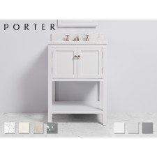 Marmor Waschtisch mit Unterschrank Carter Single