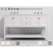 Marmor Waschtisch mit Unterschrank Carter Double