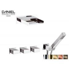 Design 2-Wege Unterputz Duscharmatur mit Schwallauslauf Daniel D