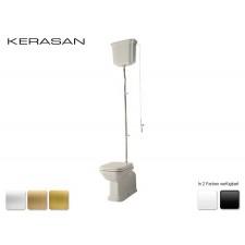Keramik WC-Becken Waldorf mit hoch hängendem Spülkasten