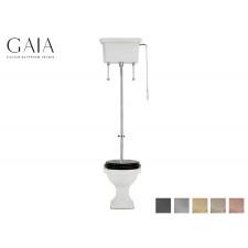 Traditioneller Keramik WC-Becken London mit hochhängendem Spülkasten
