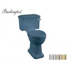 Retro Keramik WC-Becken Classic mit aufgesetztem Spülkasten Alaska Blue