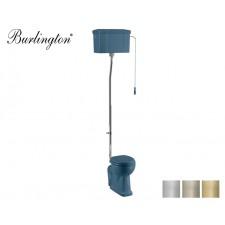 Retro Keramik WC-Becken Classic mit hoch hängendem Spülkasten Alaska Blue