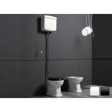Nostalgie Keramik WC-Becken Legano mit hoch hängendem Spülkasten