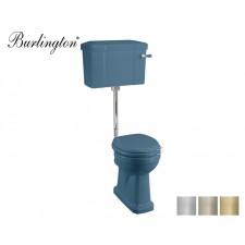 Retro Keramik WC-Becken Classic mit hängendem Spülkasten Alaska Blue