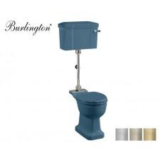 Retro Keramik WC-Becken Classic mit halb hoch hängendem Spülkasten Alaska Blue