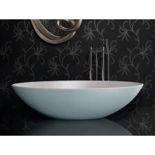 Freistehende Designer Badewanne aus Mineralguss Xinia