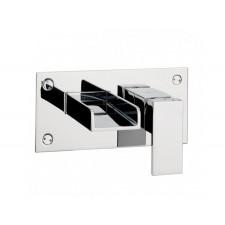 Design Zweiloch Waschtischarmatur Square zur Wandmontage