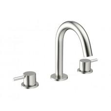 Design Dreiloch Waschtischarmatur Mike PRO Steel