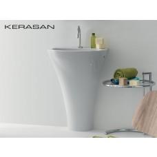 Keramik Standwaschtisch Aquatech wandbündig