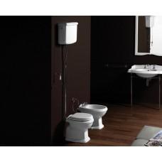 Nostalgie Keramik WC-Becken Astoria mit hoch hängendem Spülkasten