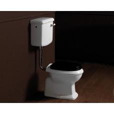 Nostalgie Keramik WC-Becken Astoria mit hängendem Spülkasten