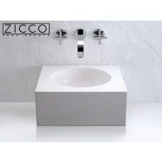Design Mineralguss Aufsatz-Waschbecken Cornet