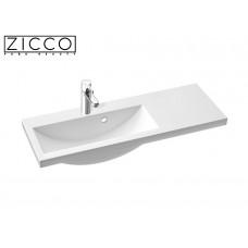 Design Mineralguss Einbau-Waschbecken Eques 90 Left