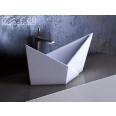 Design Mineralguss Aufsatz-Waschbecken Velta